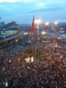 Thousands gathered in Taksim Square and Gezi Park in Istanbul to demonstrate against police brutality and government policies